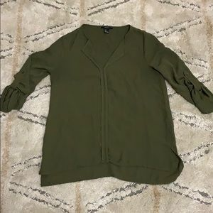 Forever 21 army green blouse